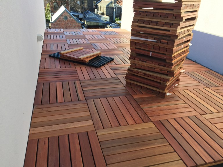 VersiPave specified for prefabricated Timber Tiles3
